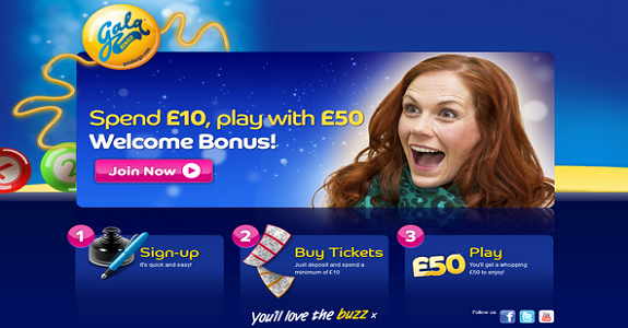 gala bingo new player £50 welcome offer